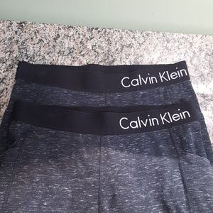 2 pair Calvin Klein performance crop leggings